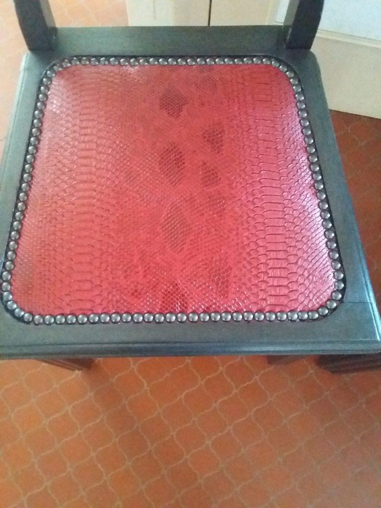 Chaise art nouveau-LD Tapisserie